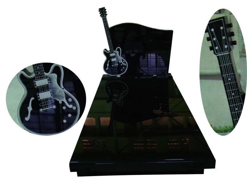 Guitar Shaped Headstones