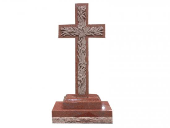 Red Granite Cross Headstones