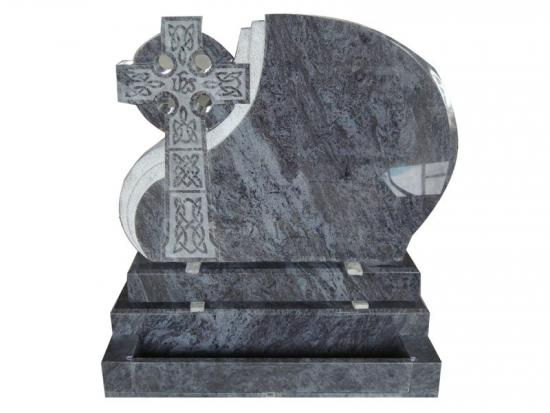 Bahama Blue Granite Celtic Cross Headstone