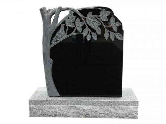 Granite Family Headstones With Tree Design