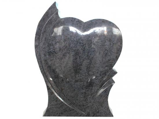 Bahama Blue Granite Heart Shaped Headstones