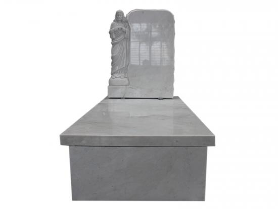 White Marble Carved Jesus Headstones
