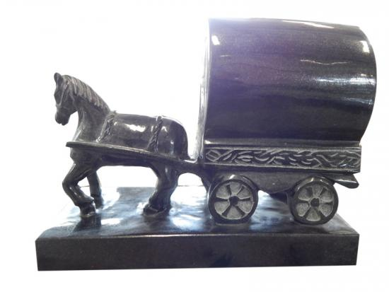 Black Granite Handmade Large Horse Statue