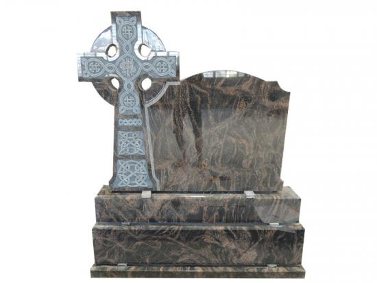 Aurora Granite Celtic Cross Gravestone For Ireland