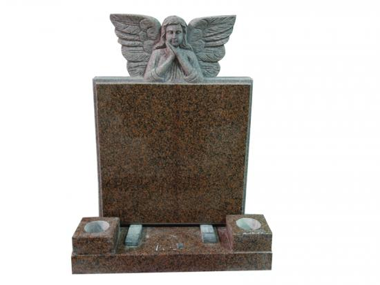 Sleeping Angel Wings Memorial With Balmoral Red